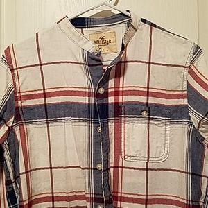Hollister Button Down Casual Collarless Shirt